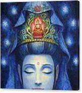 Midnight Meditation Kuan Yin Canvas Print