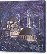 Midnight Mosque Canvas Print