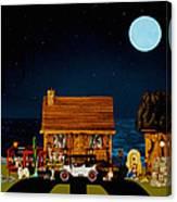 Midnight Near The Sea In Color Canvas Print