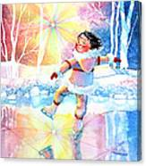 Midnight Sun Skating Fun Canvas Print