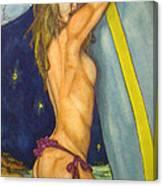 Midnight Surfer Canvas Print