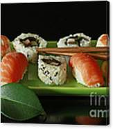 Midnight Sushi Indulgence Canvas Print