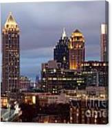 Midtown Atlanta Skyline At Dusk Canvas Print