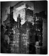 Midtown Black And White Canvas Print