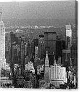 Midtown Manhattan 1980s Canvas Print