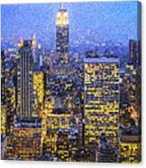 Midtown Manhattan And Empire State Building Canvas Print