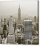 Midtown Manhattan With Empire State Building Canvas Print
