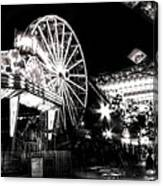 Midway Attractions In Black And White Canvas Print