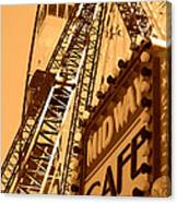Midway Cafe Sepia Canvas Print
