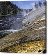 Midway Geyser Runoff Canvas Print