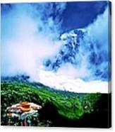 Le Milieu De Mont Blanc   Canvas Print