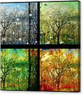Midwest Seasons Collage Canvas Print