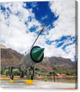 Mig-21 Fighter Plane Of Indian Air Force Used In Kargil War Displayed As Victorious Memory Canvas Print