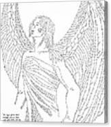 Mighty Warrior Angel Canvas Print