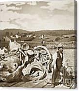 Mike Noon Monterey Whaler On Montereys Wharf  Circa 1890 Canvas Print