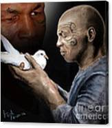 Mike Tyson And Pigeon II Canvas Print