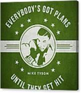 Mike Tyson - Green Canvas Print