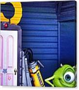 Mike With Boo's Door - Monsters Inc. In Disneyland Paris Canvas Print