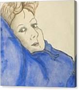 Mikki In Blue Canvas Print