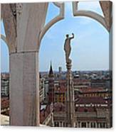 Milan Cathedral Rooftop View Canvas Print