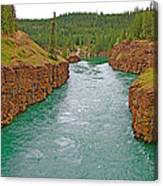 Miles Canyon In Whitehorse-yt Canvas Print