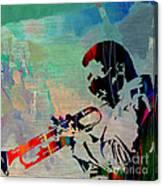 Miles Davis Jazzman Canvas Print