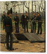Military Funeral Canvas Print