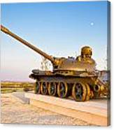 Military Tank Outdoor Installation View Canvas Print