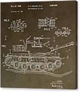Military Tank Patent Canvas Print