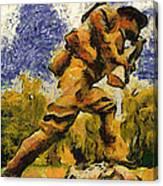 Military Ww I Doughboy 02 Photo Art Canvas Print