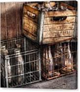 Milkman - Bottles In Boxes Canvas Print