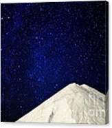 Milky Way Above White Mountain Canvas Print