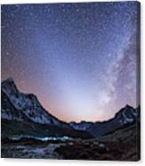 Milky Way And Zodiacal Light Ove Canvas Print