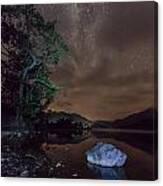 Milky Way At Gwenant Canvas Print