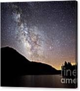 Milky Way At Highland Lakes Canvas Print