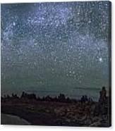 Milky Way At Mono Lake Canvas Print
