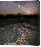 Milky Way On The Rock Canvas Print
