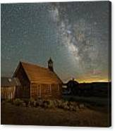 Milky Way Over Bodie Church Canvas Print