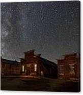 Milky Way Over Downtown Bodie Canvas Print