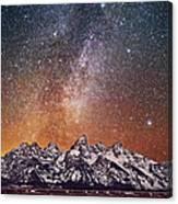 Milky Way Over Grand Teton Canvas Print