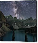 Milky Way Over Moraine Lake Canvas Print
