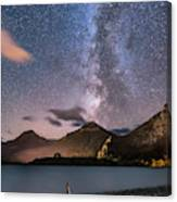 Milky Way Over Prince Of Wales Hotel Canvas Print