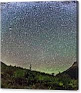 Milky Way Over Red Rock Canyon Canvas Print