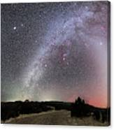 Milky Way, Zodiacal Light And Other Canvas Print