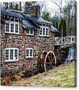 Mill Along The Delaware River In West Trenton Canvas Print