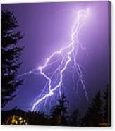 Mill Creek Lightning Canvas Print