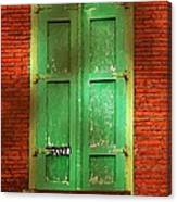 Mill Door In Dappled Sunlight Canvas Print
