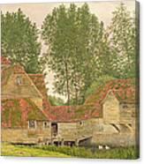 Mill On The Thames At Mapledurham, 1860 Canvas Print