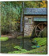 Mill Pond In Woods Canvas Print