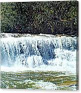 Mill Shoals Waterfall During Flood Stage Canvas Print
